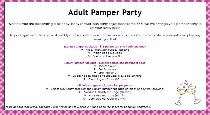 Adult Pamper Party